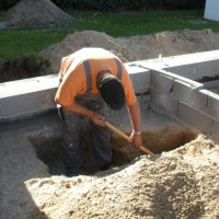 Udgravning og sokkel støbning