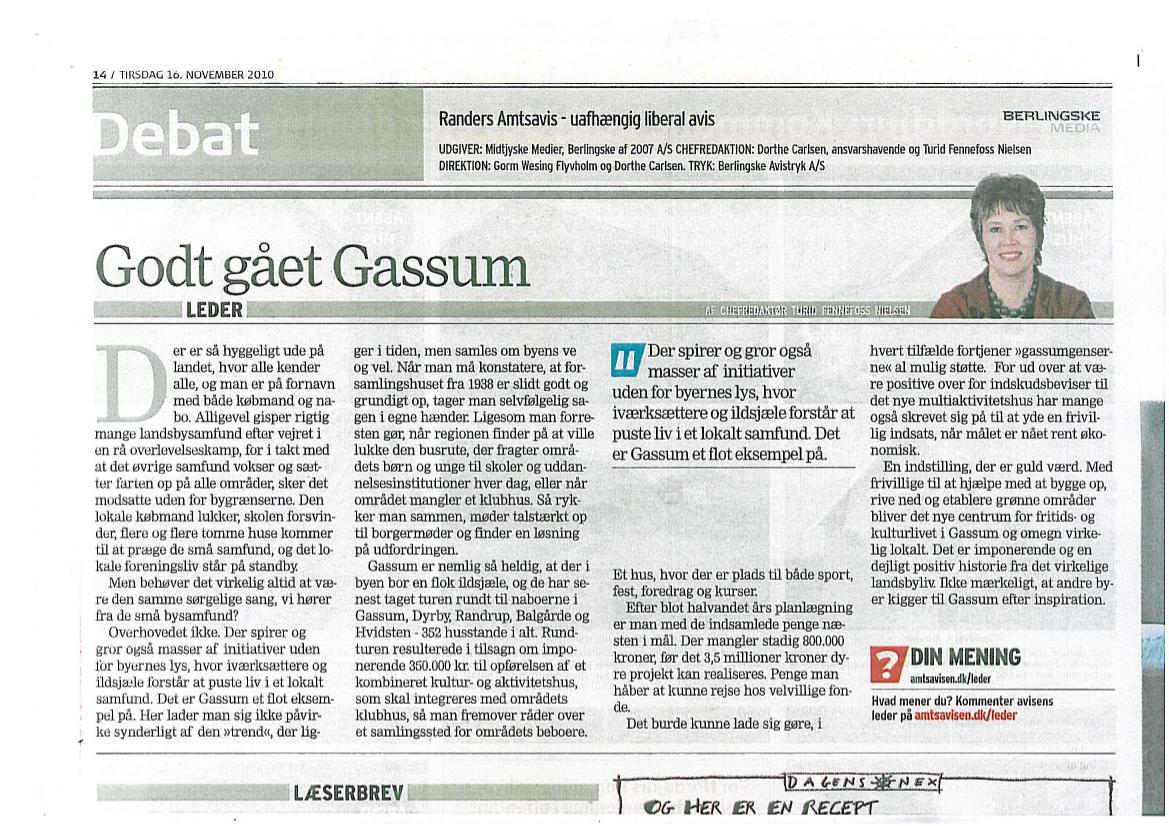Godt gået Gassum – Tirsdag 16. november 2010