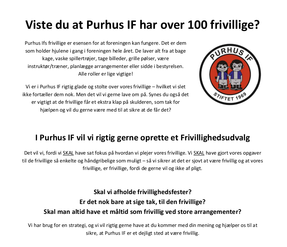 Invitation, Purhus IF
